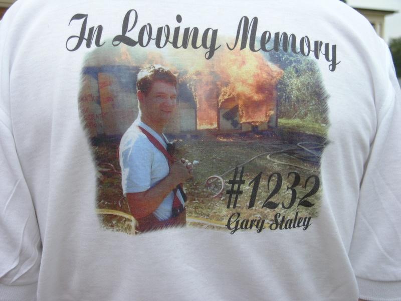 Back of Shirt for Memorial